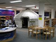 Yurt in AK Bell Library, Perth
